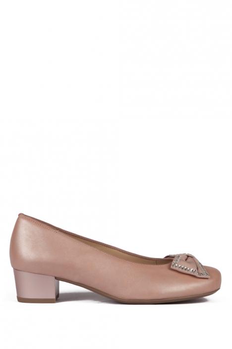 32094 Ara Kadın Topuklu Deri Ayakkabı 3-8 NOVELLACALF, PUDER - 05NP
