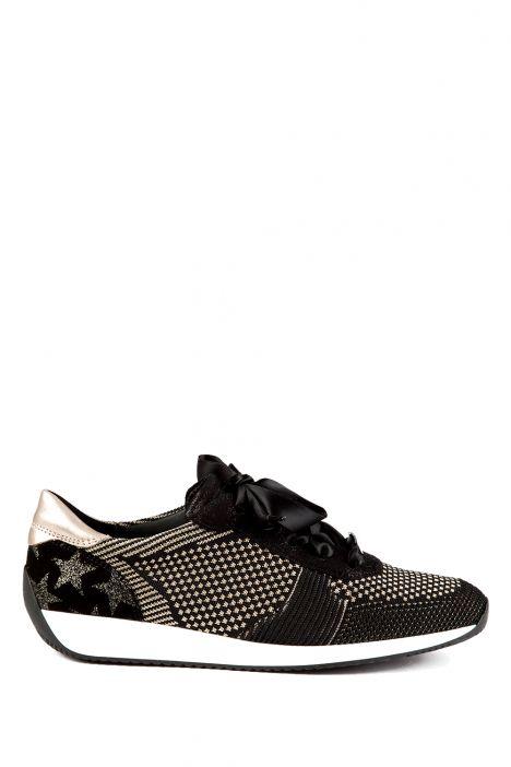 34027 Ara Kadın Spor Ayakkabı 3-8 SCHWARZ-PLATIN - 49