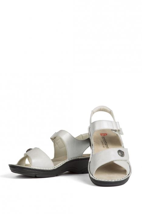 3412 Berkemann Kadın Anatomik Deri Sandalet 3-8,5 SilberWeiss Perlato - 102