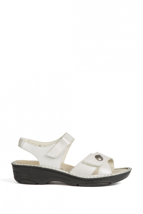 3412 Berkemann Kadın Sandalet 3-8,5 SilberWeiss Perlato - 102