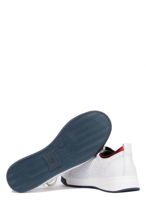34436 Ara Kadın Deri Spor Ayakkabı 3.0-8.0 WEISS, BLAU/ROT - 06WBR
