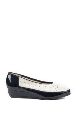 35037 Ara Kadın Dolgu Topuk Deri Ayakkabı 3-8,5 OZEAN,WEISS - 05OW