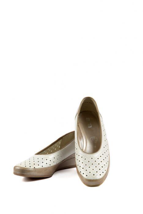 35037 Ara Kadın Dolgu Topuk Deri Ayakkabı 3-8,5 COTTON,WEISS - 16CW