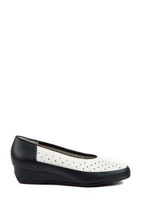 35037 Ara Kadın Dolgu Topuk Deri Ayakkabı 3-8,5