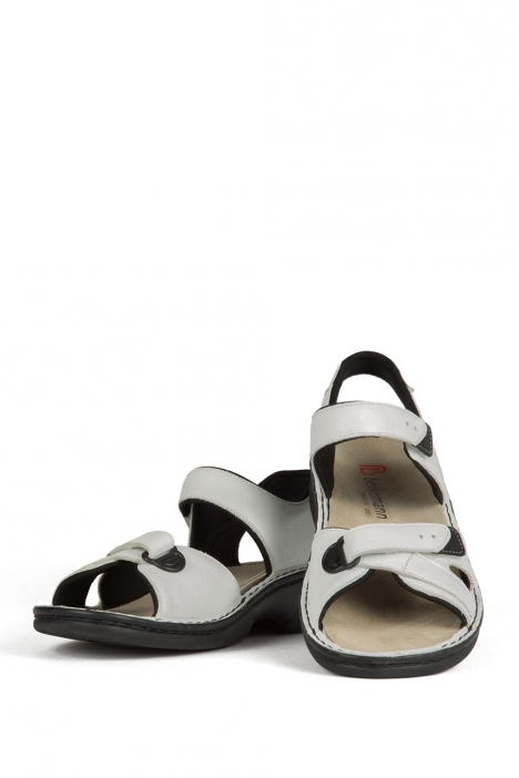 3522 Berkemann Kadın Anatomik Deri Sandalet 3-8,5 Weiss Soft-Sportnappa - 103