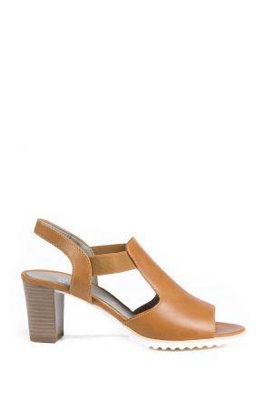 35649 Ara Kadın Topuklu Deri Ayakkabı 3-8