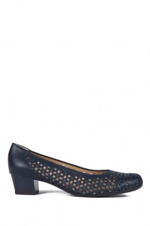 35862 Ara Kadın Topuklu Deri Ayakkabı 3-8 NAPPASOFT, PRE-MET, BLAU - 02NPB