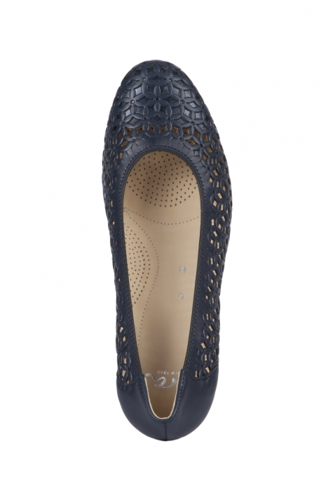 35862 Ara Kadın Topuklu Ayakkabı 3-8 NAPPASOFT, PRE-MET, BLAU - 02NPB