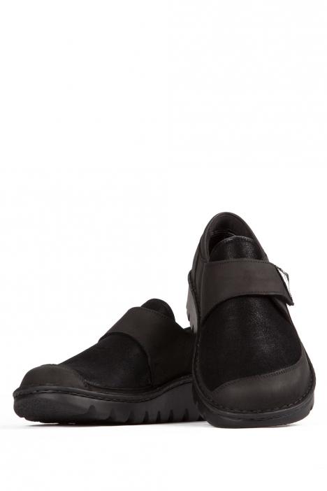 3603 Berkemann Kadın Anatomik Ayakkabı 3-8,5 Schwarz Nubuk/Stretch - B-907NS