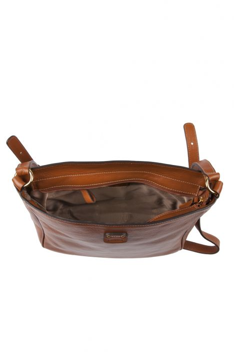 3646 Bric's Life Pelle Omuz Çantası 29x24,5x9 cm Taba / Leather