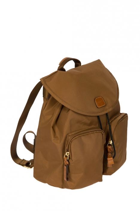 3754 Bric's X-Travel Sırt Çantası 27x27x13 cm Taba / Leather