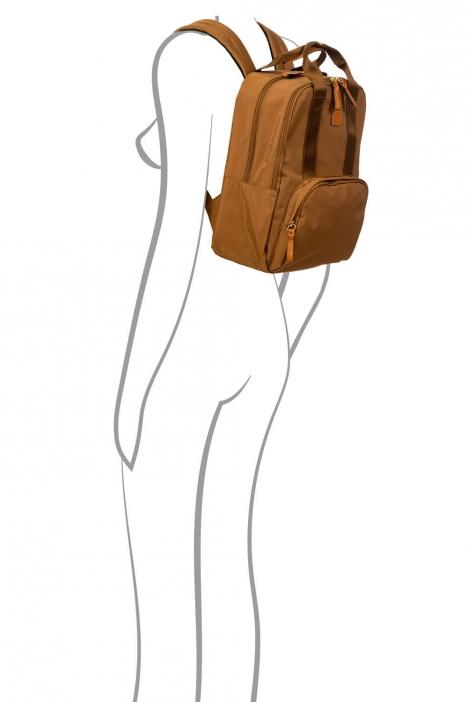 3756 Bric's X-Travel Sırt Çantası 28x36x16 cm Taba / Leather