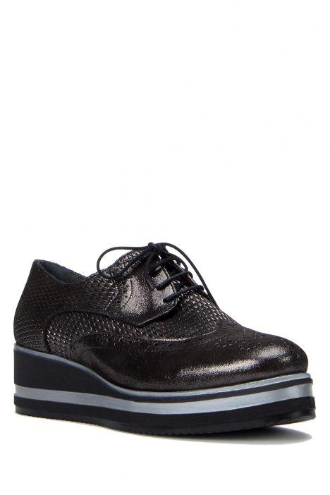 3926 Allium Kadın Ayakkabı 36-41 Black Purple