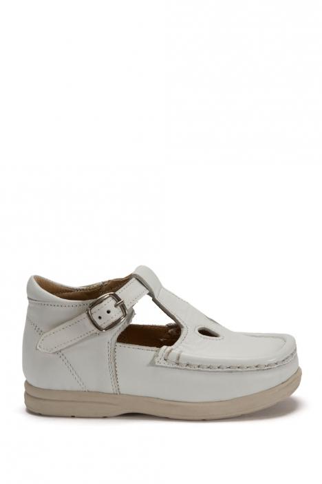 402 Kalite Çocuk Ayakkabı (Tokalı) 25-30 Beyaz / Bianco