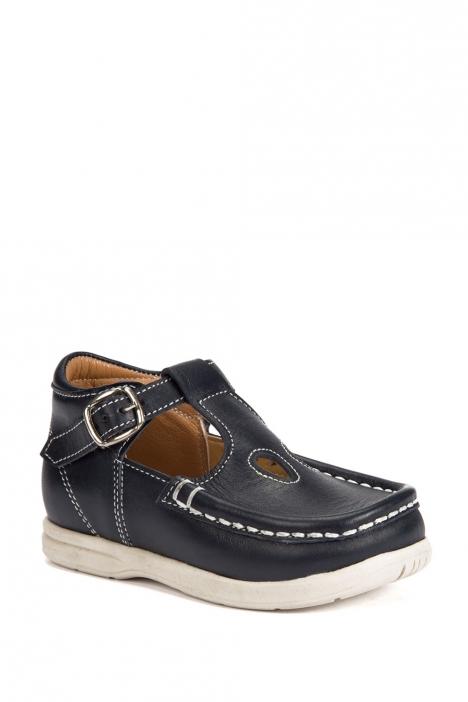 402 Kalite Çocuk Ayakkabı (Tokalı) 25-30 Lacivert / Navy