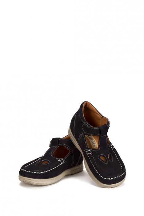 402 Kalite Çocuk Ayakkabı (Tokalı) 25-30 Nubuk Lacivert / Nubuck Navy