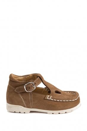 402 Kalite Çocuk Ayakkabı (Tokalı) 25-30 NU.TABA