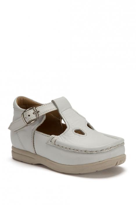 402 Kalite İlk Adım Çocuk Ayakkabısı (Tokalı) 19-24 Beyaz / Bianco