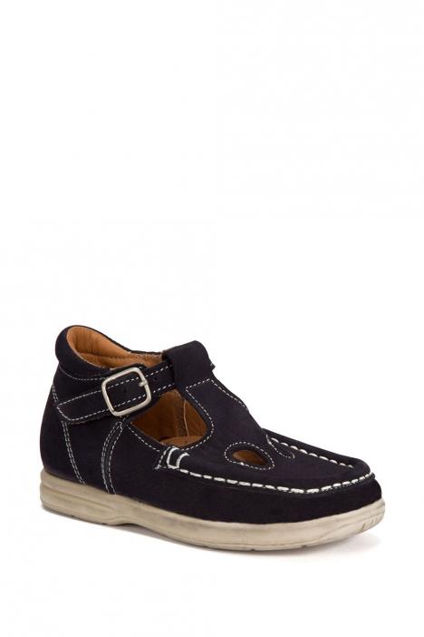 402 Kalite İlk Adım Çocuk Ayakkabısı (Tokalı) 19-24 Nubuk Lacivert / Nubuck Navy