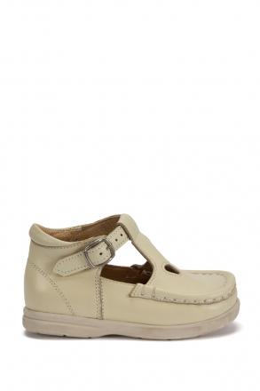 402 Kalite İlk Adım Çocuk Ayakkabısı (Tokalı) 19-24 Bej / Beige