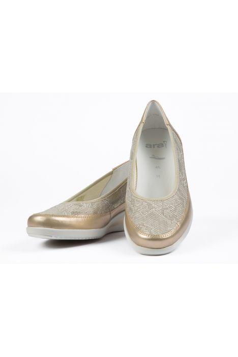 40641 Ara Kadın Dolgu Topuk Ayakkabı 3,5-8,5 PLATIN,CHIARA - 10P