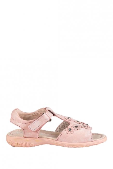 4091D4 Kifidis Melania Hakiki Deri Çocuk Sandalet 24-32 ROSA