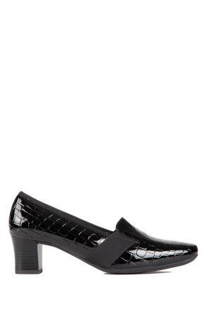 41781 Ara Kadın Topuklu Deri Ayakkabı 3-8