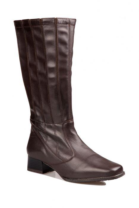 41890 Ara Kadın Deri Çizme 3-8 MORO