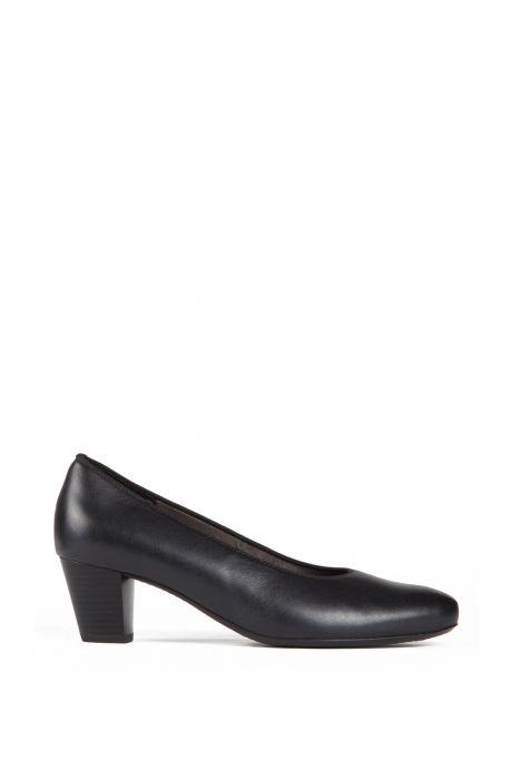 42053 Ara Kadın Topuklu Deri Hostes Ayakkabısı 3-7,5 SCHWARZ - 65S