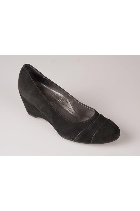42082 Ara Kadın Dolgu Topuk Nubuk Ayakkabı 3,5-8,5 Siyah / Black