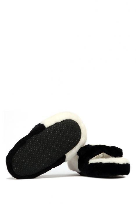 Kifidis Panda Peluş Terlik Beyaz / White