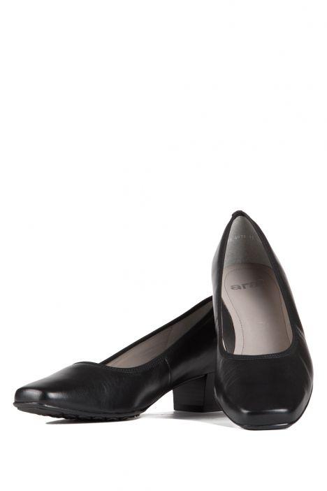 44851 Ara Kadın Topuklu Deri Hostes Ayakkabısı 3-7,5 SCHWARZ - 01S