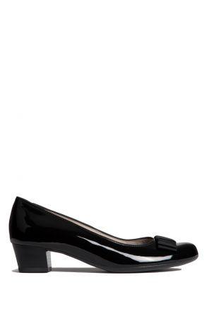 45812 Ara Kadın Topuklu Rugan Ayakkabı 3-8,5 PATENT, BLACK - 08PB
