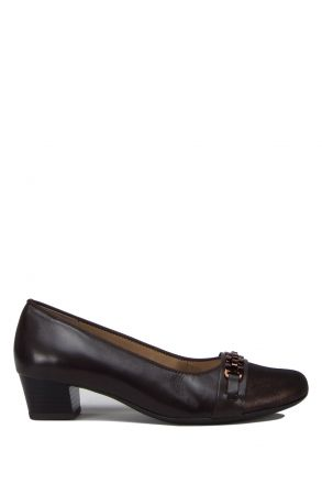 45880 Ara Kadın Topuklu Deri Ayakkabı 3.5-8.5