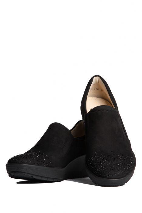 47694 Ara Kadın Dolgu Topuk Nubuk Ayakkabı 3-8 NUBUK, BLACK - 01NB