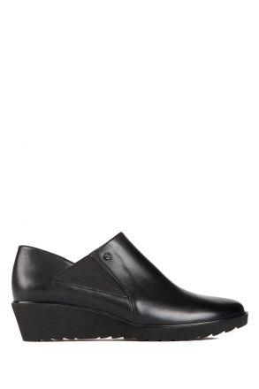 47867 Ara Kadın Dolgu Topuk Deri Ayakkabı 3,5-8,5