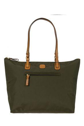 5070 Bric's X-Bag Omuz Çantası 35x34x15 cm Yeşil / Olive