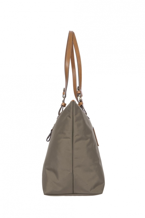 5070 Bric's X-Bag Omuz Çantası 35x34x15 cm Gri / Mud