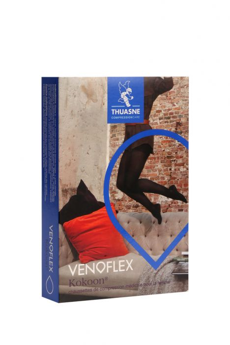 5230-11 Venoflex Kokoon Dizaltı Çorap 20-36 mmHg (Kısa) Siyah / Black