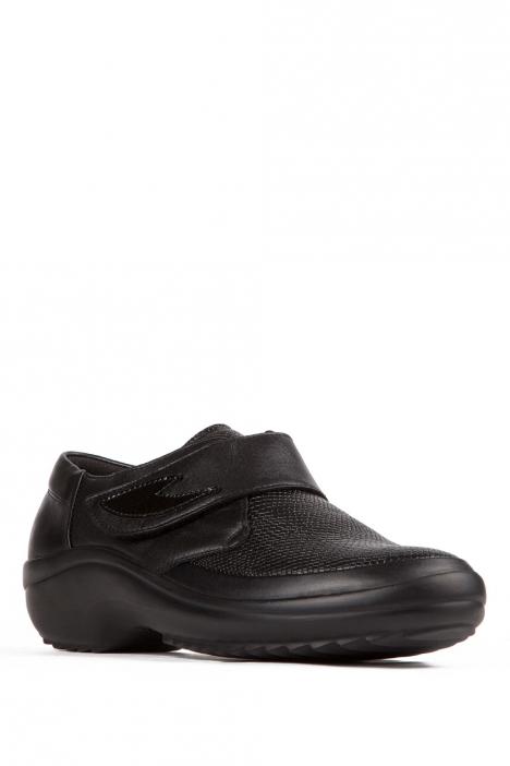 5234 Berkemann Kadın Anatomik Ayakkabı 3-8,5 Schwarz Leder/Prägestretch - B-983
