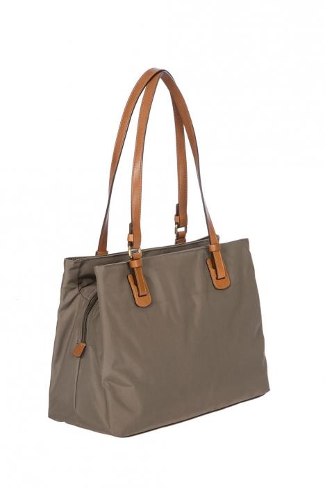 5282 Bric's X-Bag Omuz Çantası 32x25x15 cm Gri / Mud