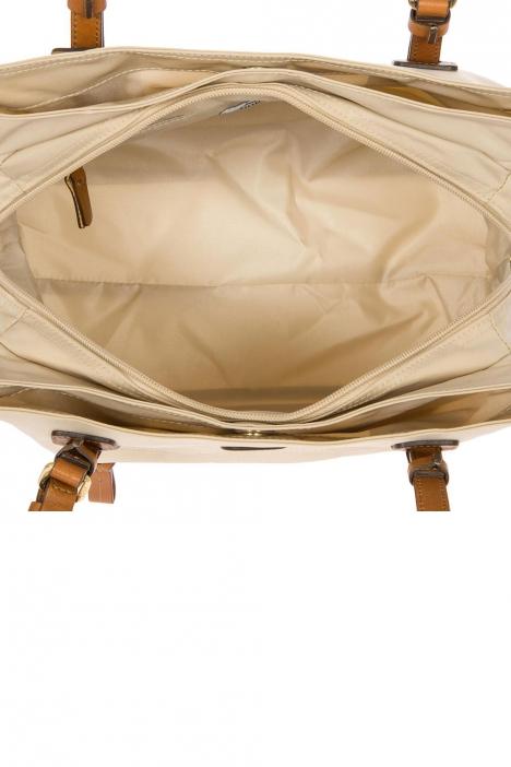 5282 Bric's X-Bag Omuz Çantası 32x25x15 cm Bej / Papyrus