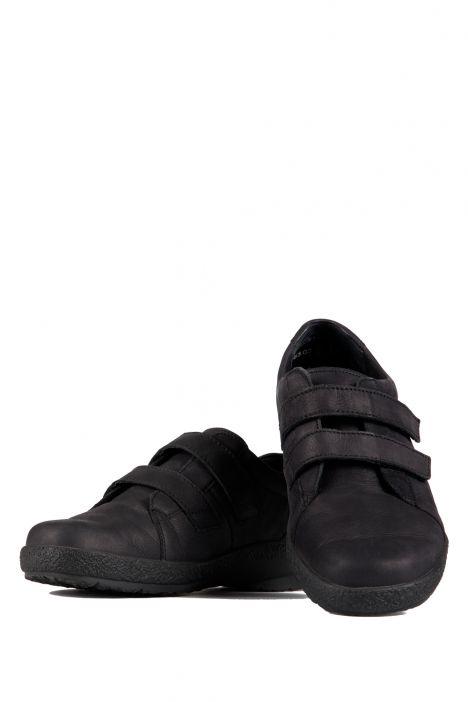5303 Berkemann Kadın Anatomik Ayakkabı (3-8,5) Schwarz Nubukleder - 910