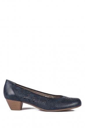 53609 Ara Kadın Topuklu Deri Ayakkabı 3-8