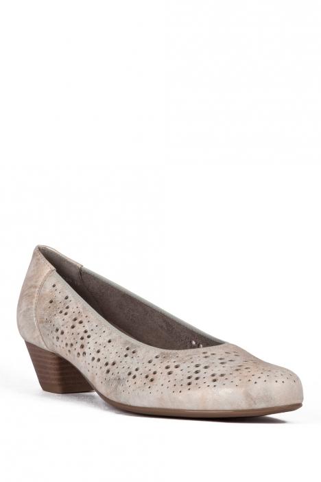 53609 Ara Kadın Topuklu Deri Ayakkabı 3-8 FRESCO, PUDER - 77FP