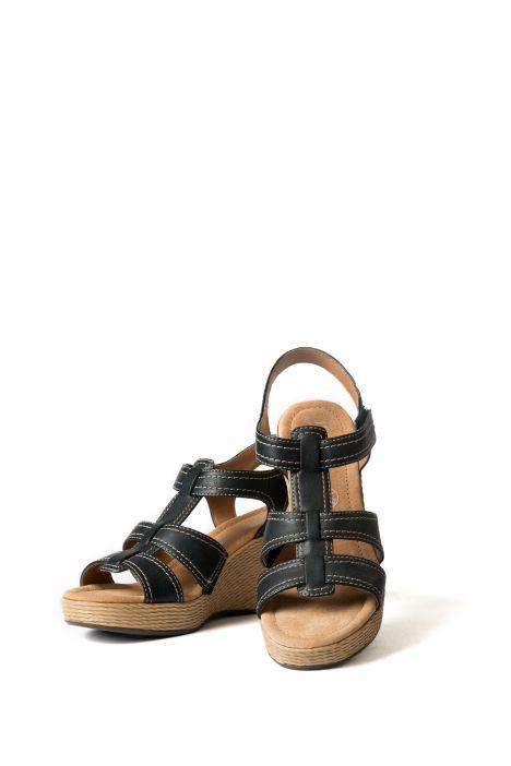 53801 Ara Kadın Dolgu Topuk Sandalet 36-41 SCHWARZ - 01S