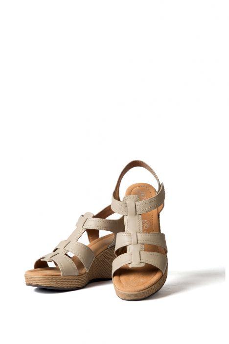 53801 Ara Kadın Dolgu Topuk Sandalet 36-41 ECRU - 06E