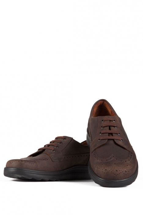 5503 Berkemann Erkek Anatomik Ayakkabı 6-12 Dunkelbraun Fettleder - 480