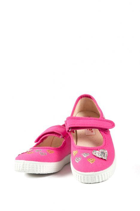 56022 Kifidis Cienta Çocuk Keten Ayakkabı 31-35 Fuşya / Fuxia