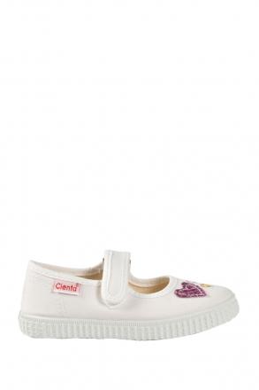 56022 Kifidis Cienta Çocuk Keten Ayakkabı 31-35 Beyaz / White